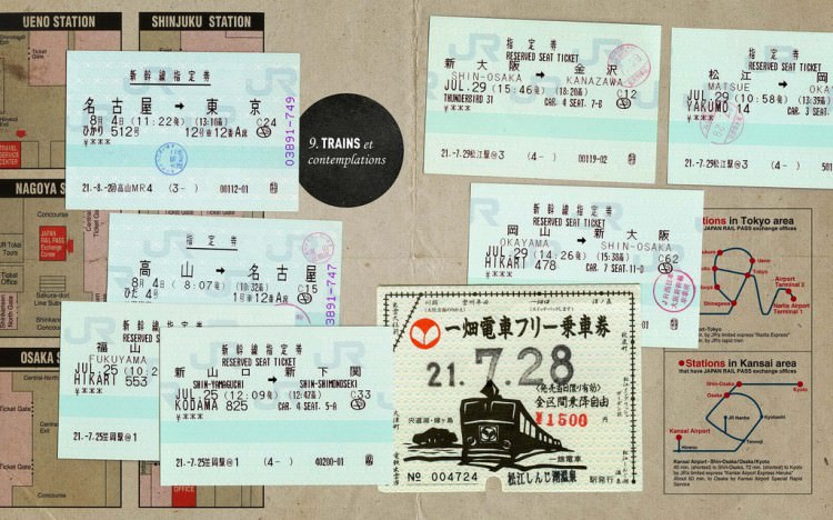 Japon, billets de train