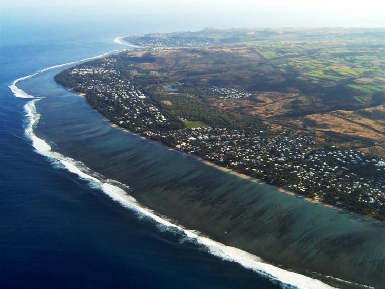La Réunion en ULM, lagon