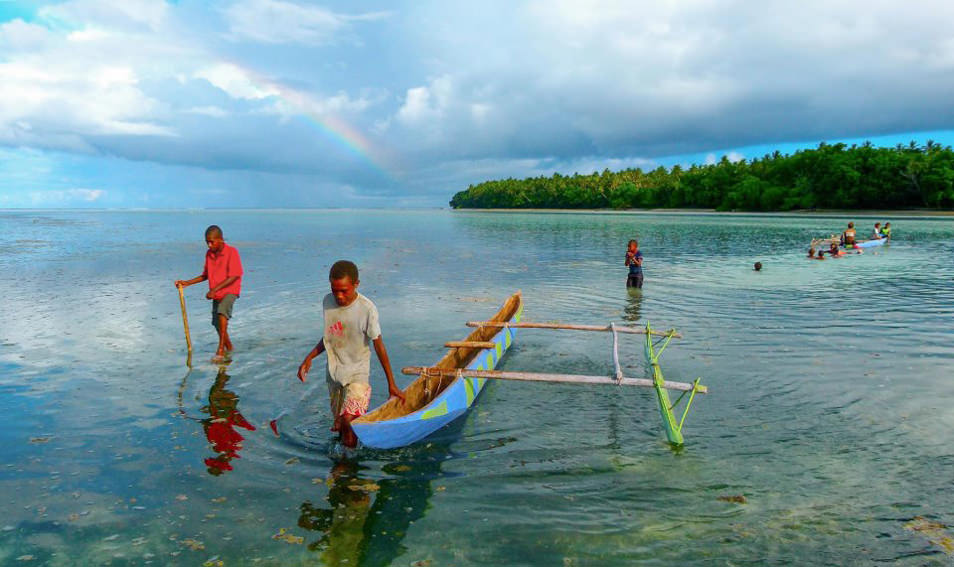 Paradis sur terre, lagon de Mota Lava, Iles des Banks, Vanuatu
