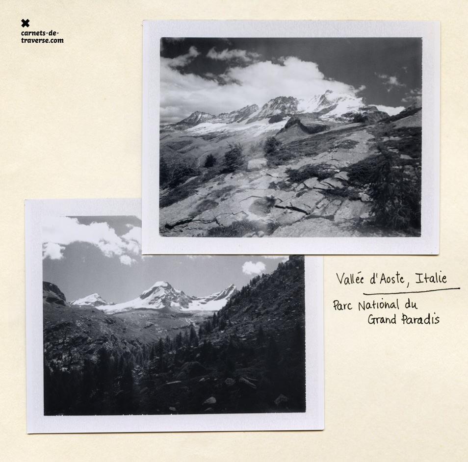 Polaroid noir & blanc montagne