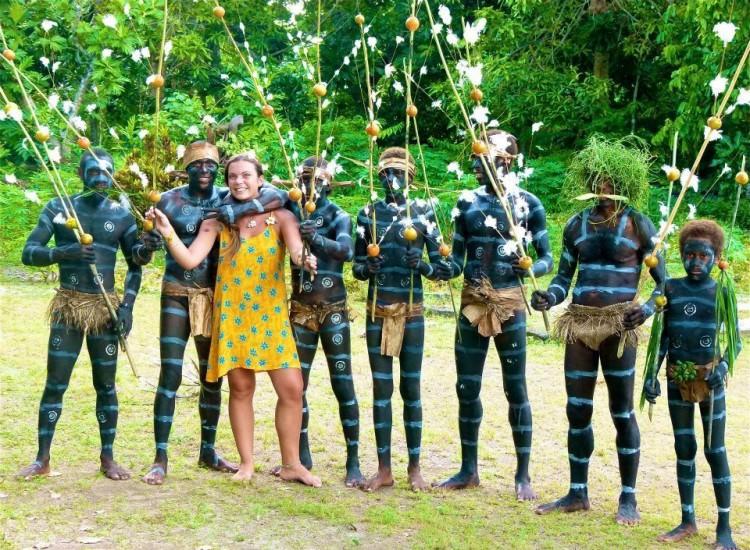 Danse des hommes serpents, île des Banks, Vanuatu