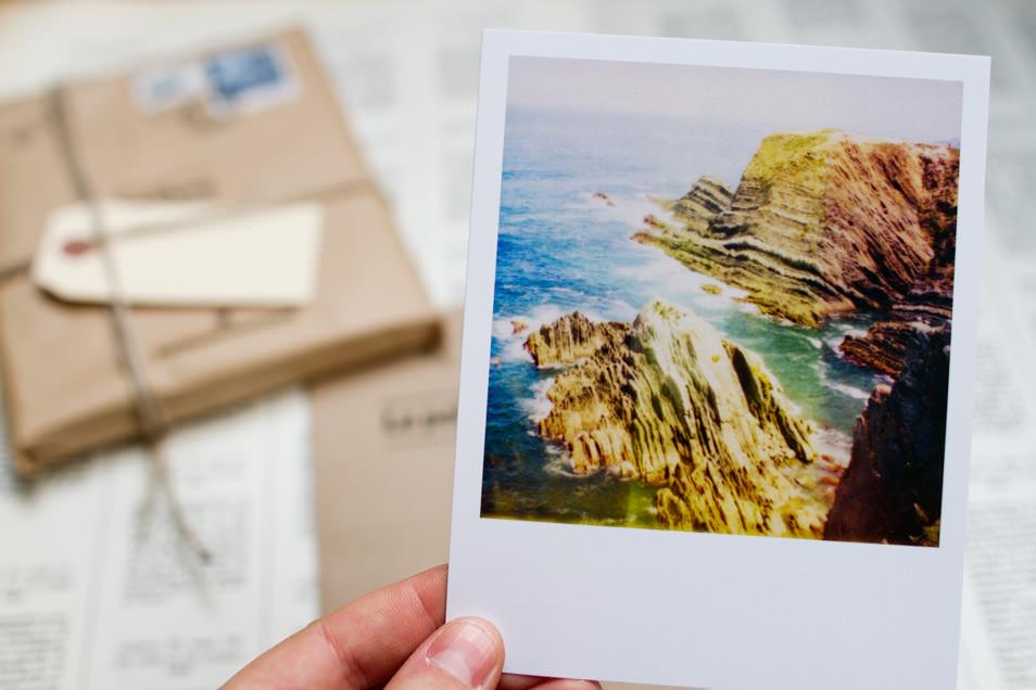 Coffret cadeau, tirage Polaroid, Portugal