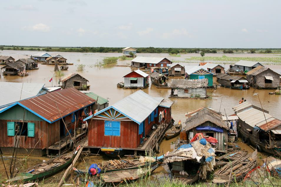 Villages flottants du Tonle Sap