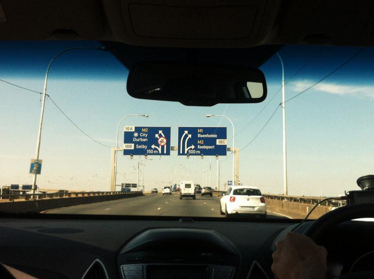 Johannesburg, on the road