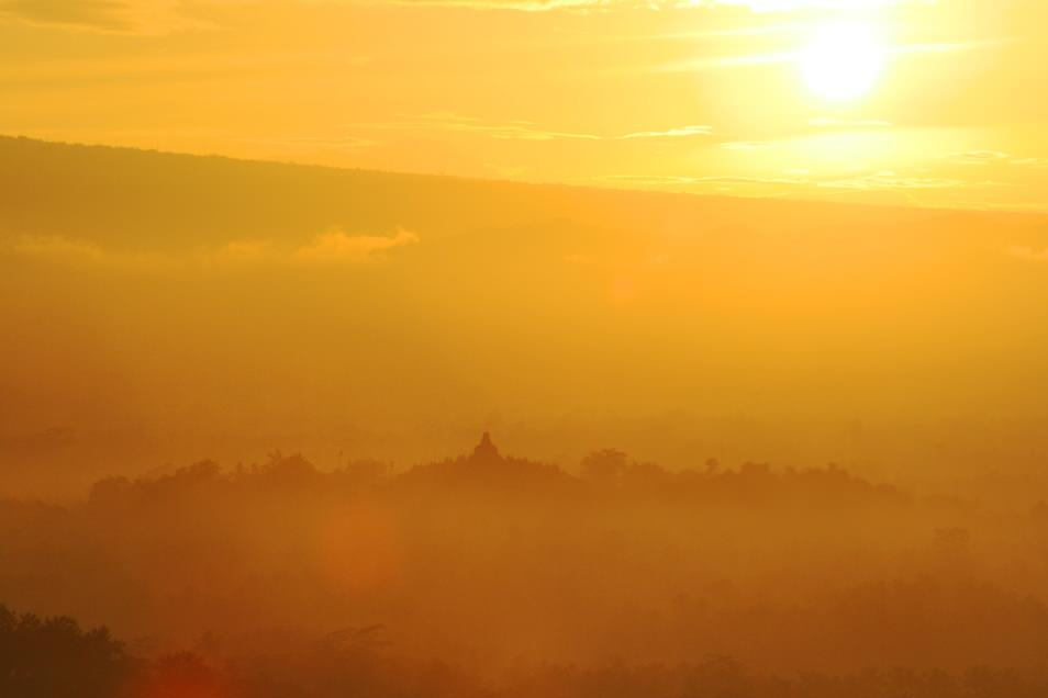 Sunrise in Borobudur, Java