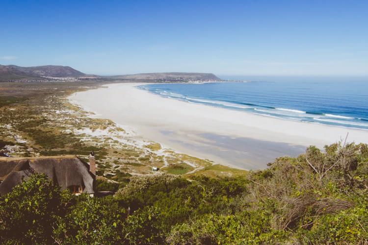 Plage, péninsule du Cap, Afrique du Sud
