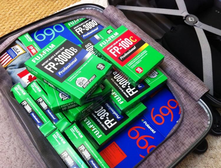 Polaroid en voyage