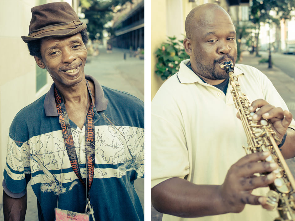 Street portraits, French Quarter, New Orleans, Lousiana