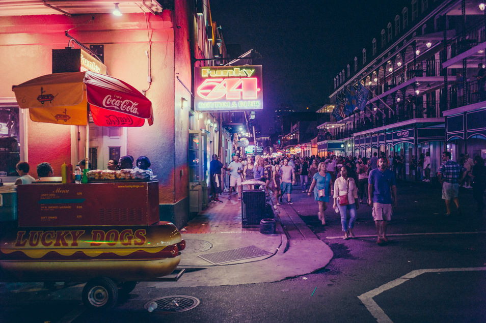 Nighlife in Bourbon Street, New Orleans