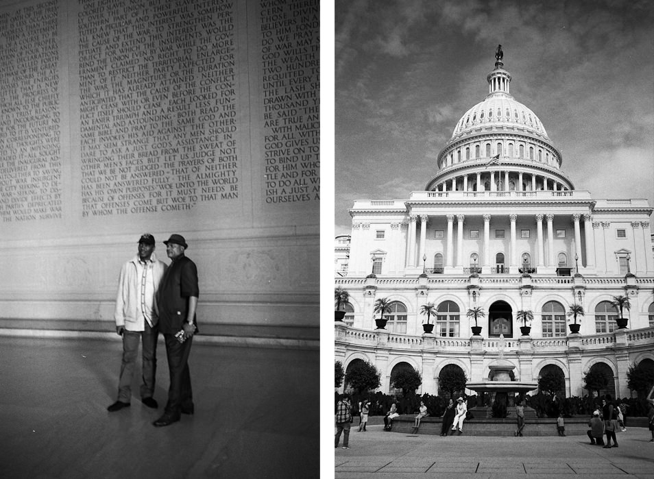 Road trip USA, Washington Capitole noir & blanc argentique