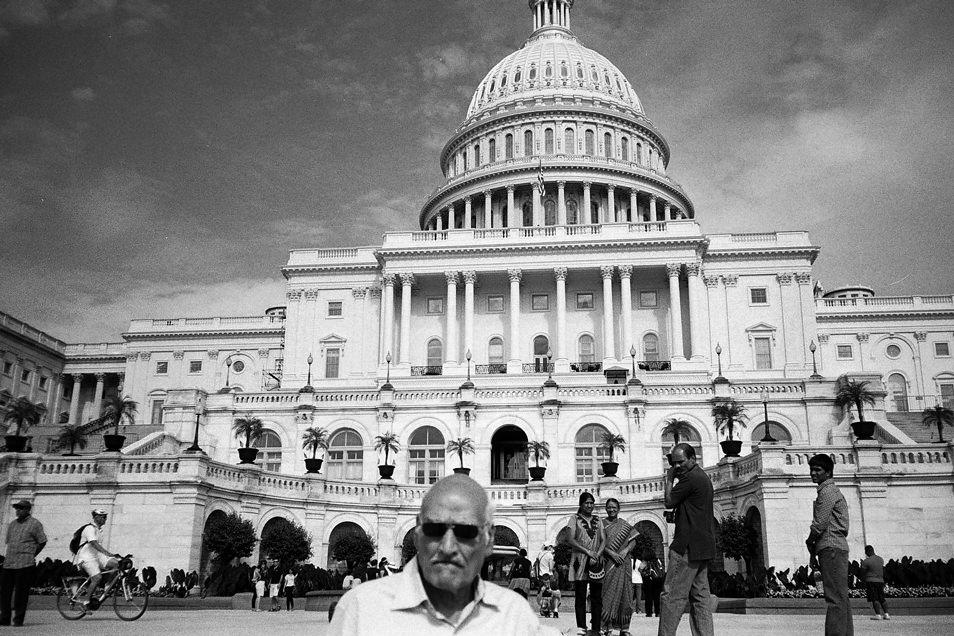 Road trip USA, Washington Capitole noir & blanc argentique