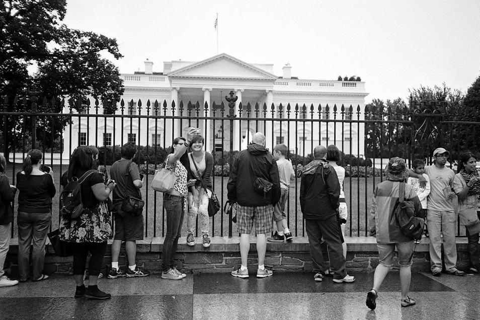 Road trip USA, Washington Maison Blanche noir & blanc argentique
