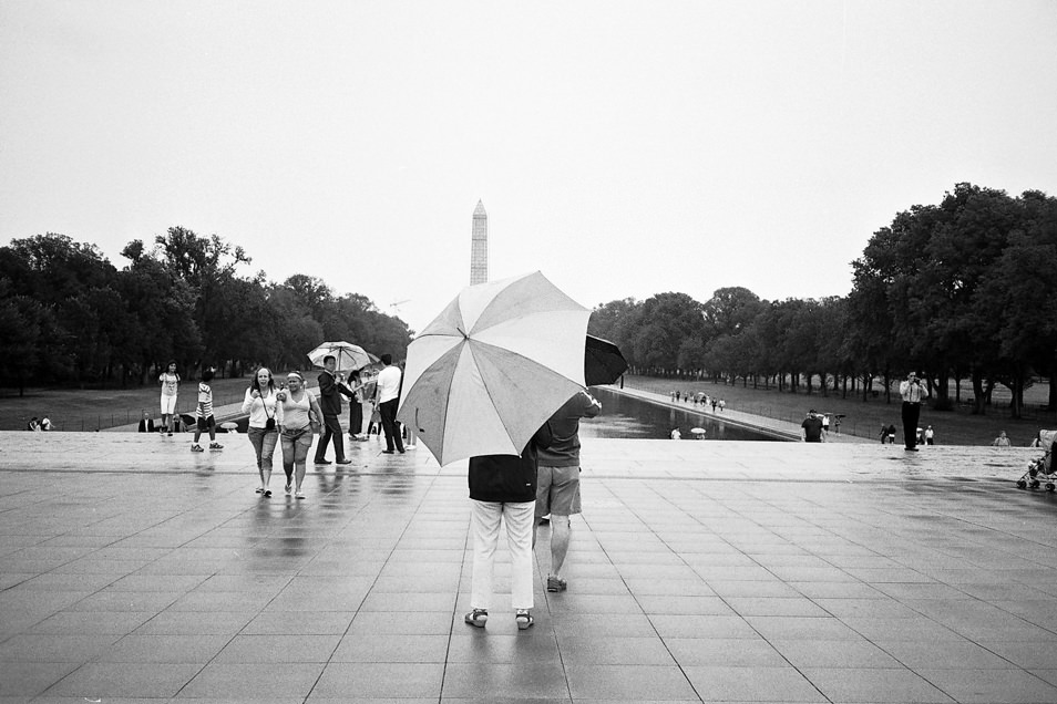 Road trip USA, Washington National Mall noir & blanc argentique