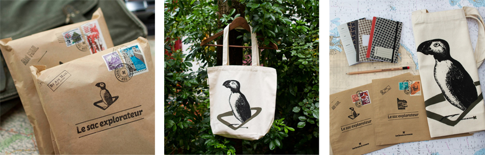 Tote bag Puffin