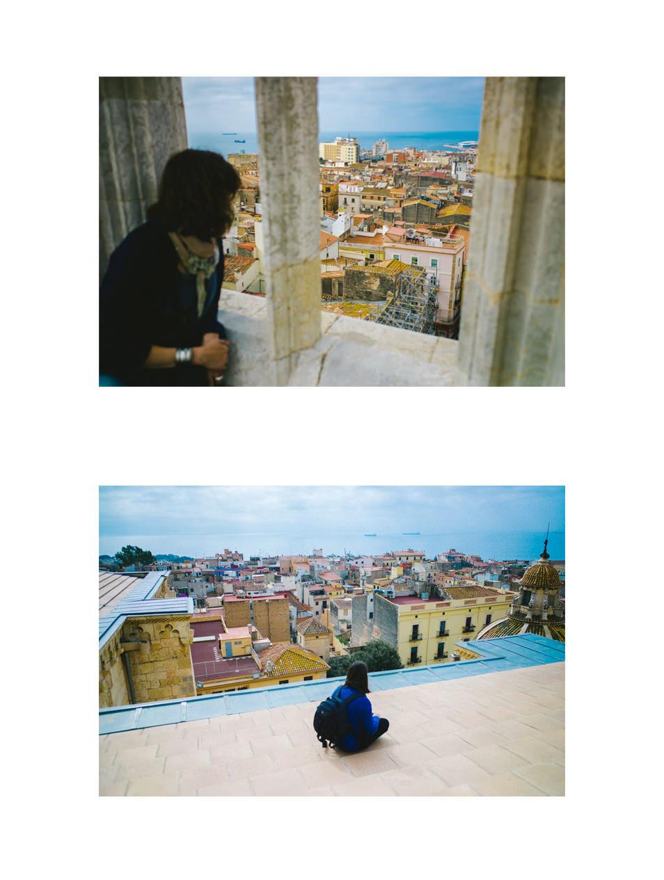 Sur les toits de la cathédrale de Tarragone