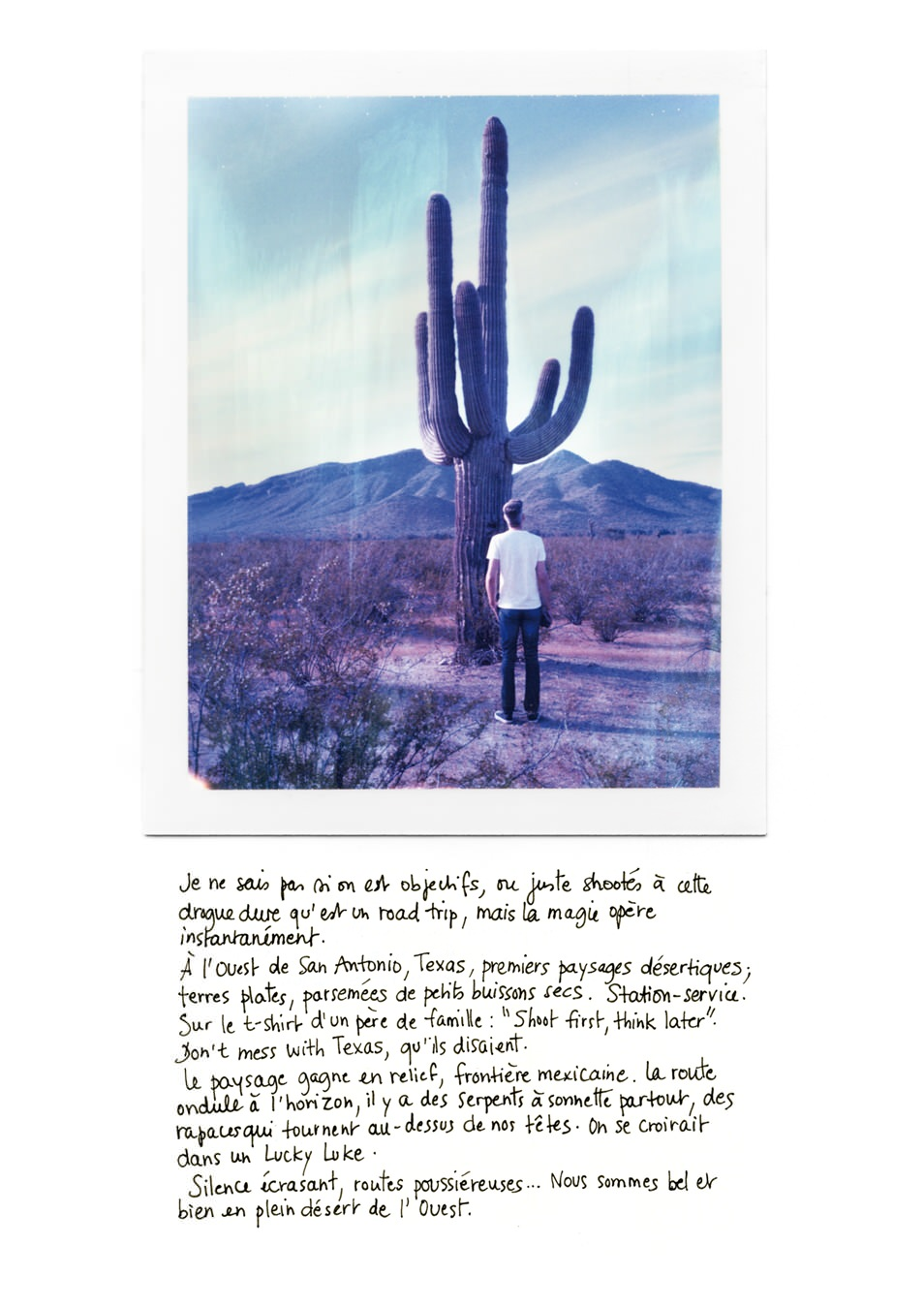 Polaroid Arizona - Road trip USA : carnet de voyage