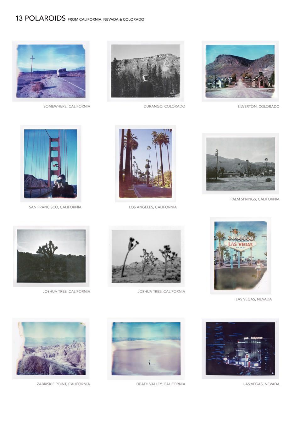 Polaroids - Road trip USA : carnet de voyage