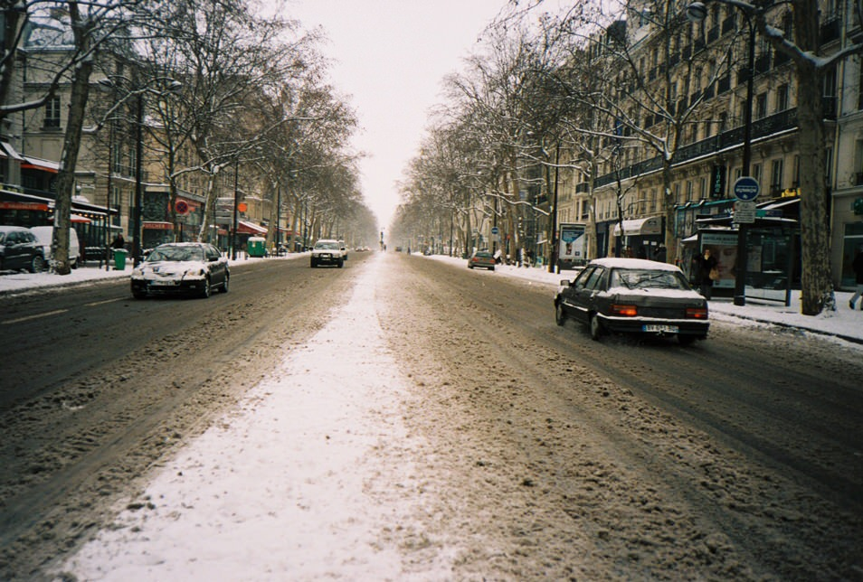Photo de rue Paris sous la neige