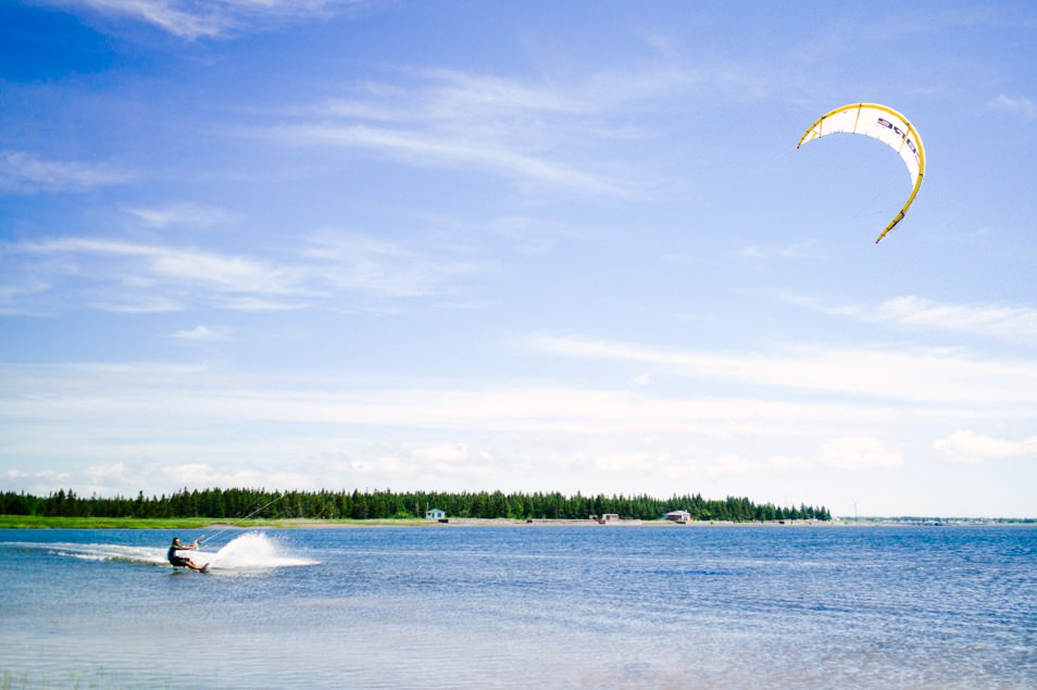 Kite surf, road trip en Acadie, Nouveau Brunswick