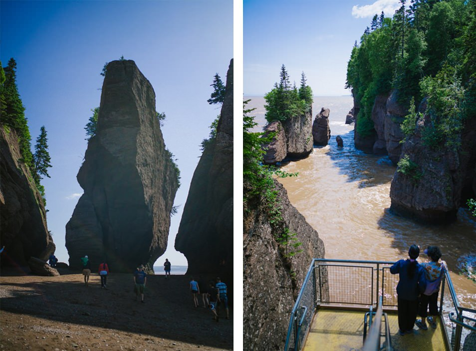Baie de Fundy, Hopewell Rocks, road trip en Acadie, Nouveau Brunswick