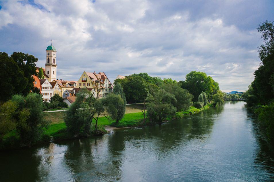 Ratisbonne, Bavière, le Danube