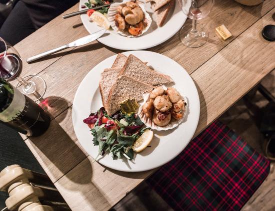 Shieldaig Bar and Coastal Kitchen, les coquilles St Jacques <3
