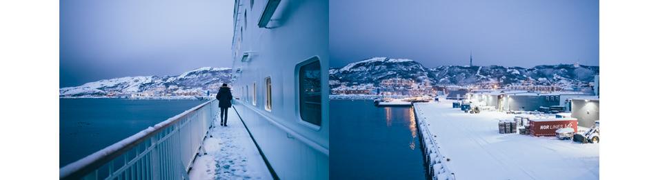 A quelques minutes du départ de l'Hurtigruten