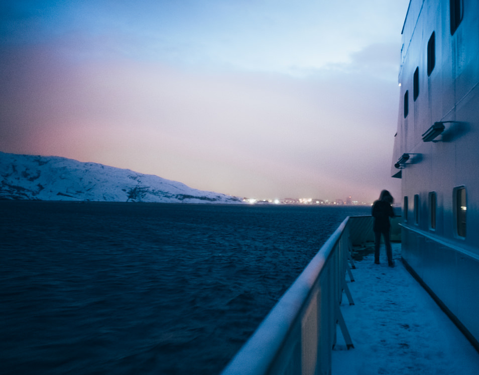 Ms Nordnorge Hurtigruten - Départ Bodø