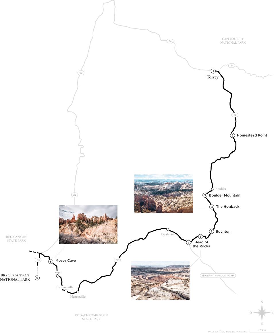 Road trip dans l'Ouest Américain - Scenic Drive 12 - Itinéraire de Torrey a Bryce Canyon
