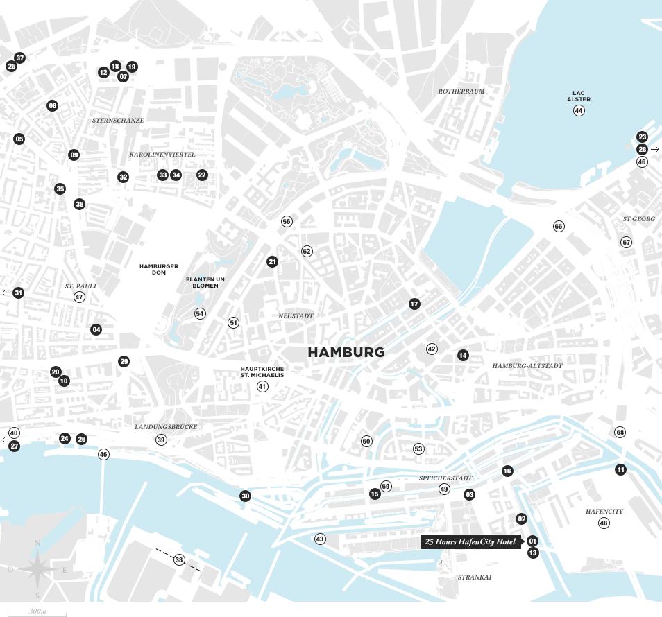 Carte Hambourg