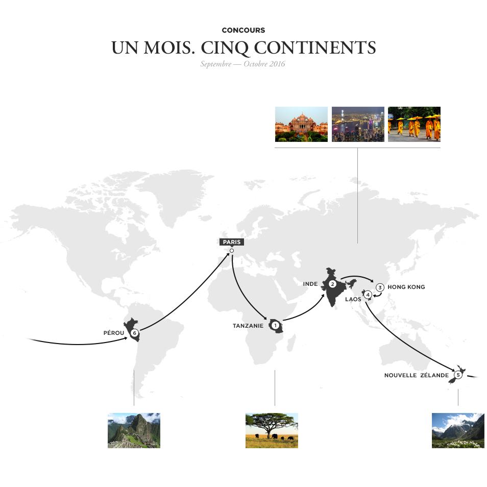 Map tour du monde