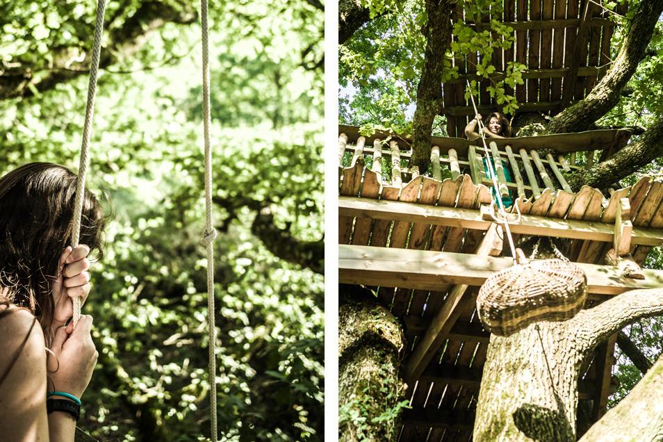 Cabane dans les arbres : le panier repas