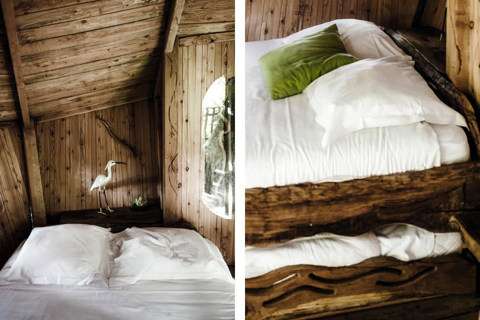 Cabane dans les arbres : l'intérieur