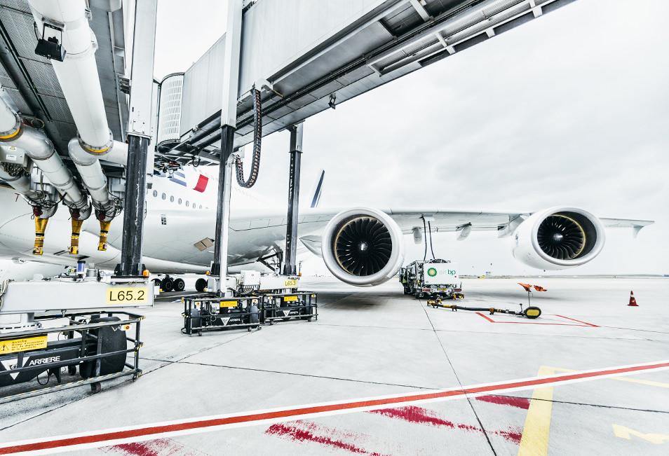 Sous un A380 - Hub Air France aéroport CDG