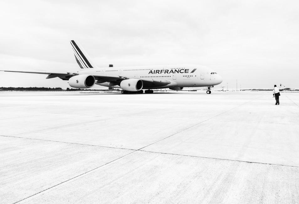 Décollage A380 - Hub Air France aéroport CDG