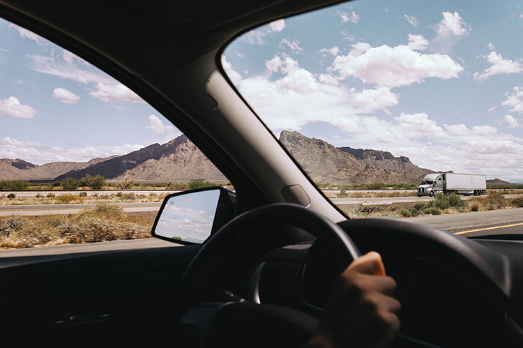Road trip Arizona, sur la route
