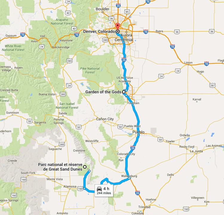 Viatge per carretera Colorado - Grans dunes de sorra a Denver