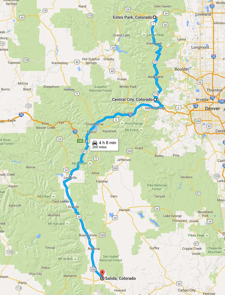 Road trip Colorado - D'Estes Park à Salida
