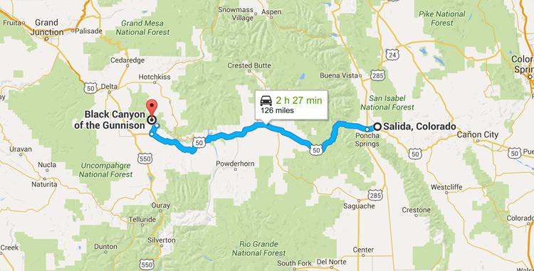 Viatge per carretera Colorado - de Salida al canó negre