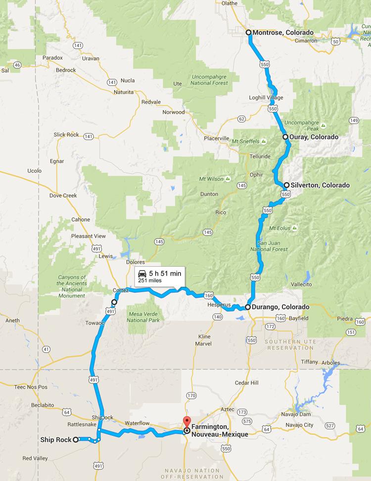 Viatge de carretera Colorado - De Montrose a Farmington