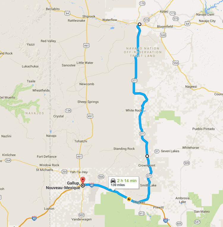 Viatge de carreteres Nou Mèxic - de Farmington a Gallup