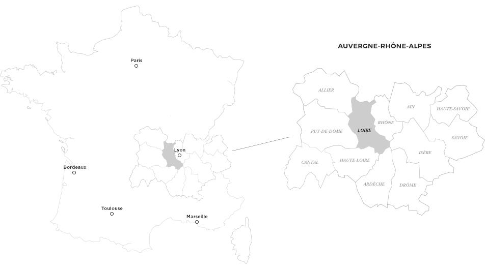 Carte Loire Forez