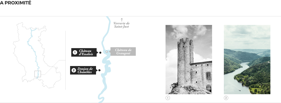 A proximité - Guide Gorges de la Loire - Chateau de Grangent