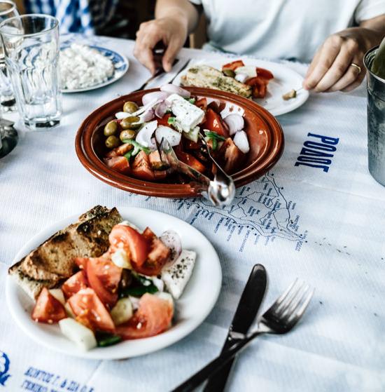 Restaurant poisson grillé, Rhodes, Grece