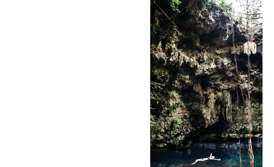 Cenote de l'hacienda Temozon, Yucatan, Mexique