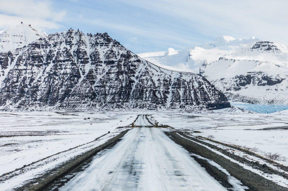 Road trip en Islande en hiver - Route du Svinafellsjokull