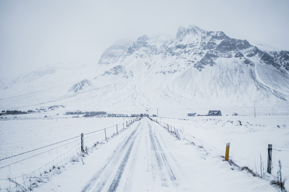 Road trip en Islande en hiver - Route gelée