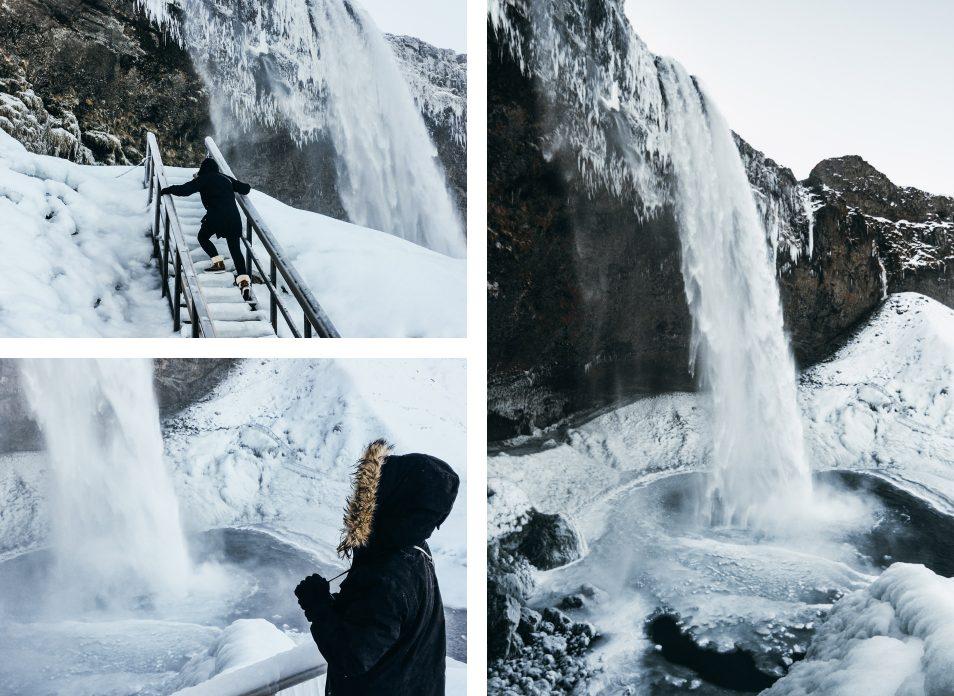 Road trip en Islande en hiver -  Cascade Seljalandsfoss