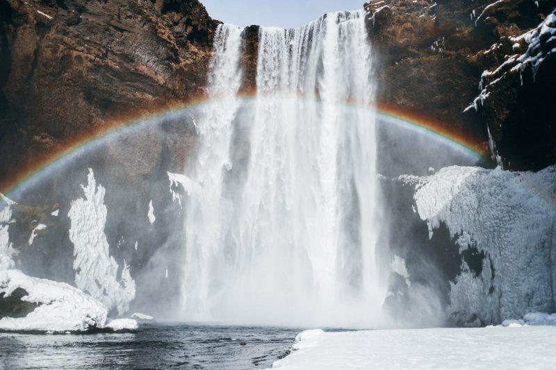 Road trip en Islande en hiver - Cascade Skogafoss