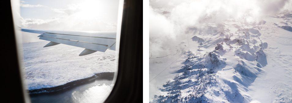 Road trip en Islande en hiver - Vue de l'avion